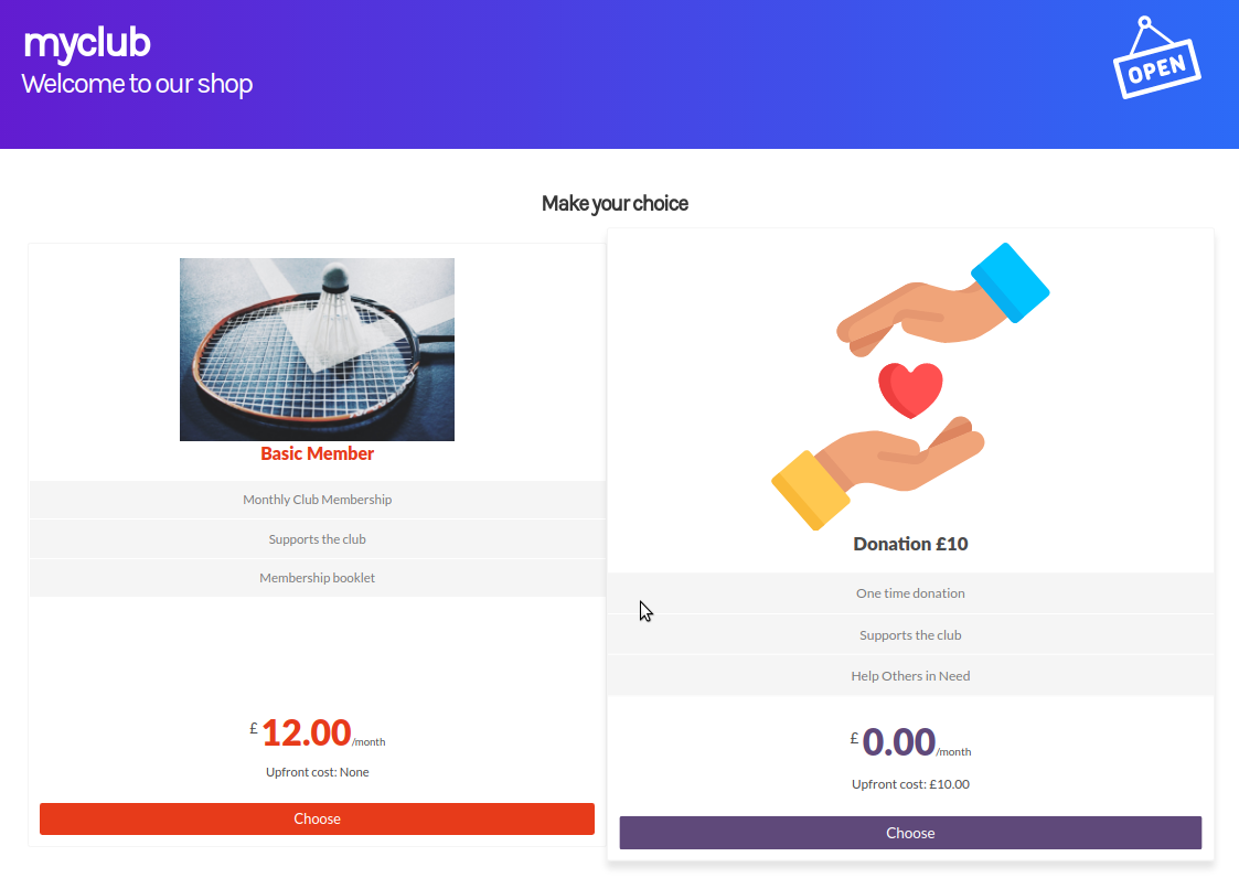 club-online-donation-subscription-example